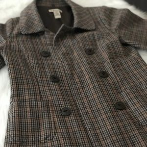 FOREVER 21 Vintage Plaid Trench